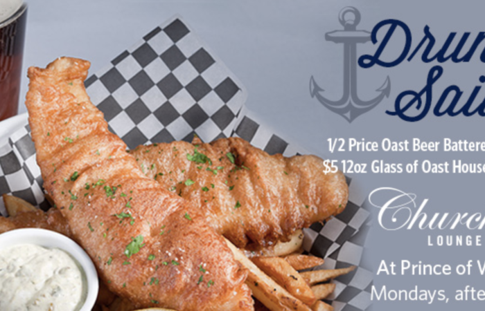 Drunken Sailor - 1/2 Price Fish & Chips